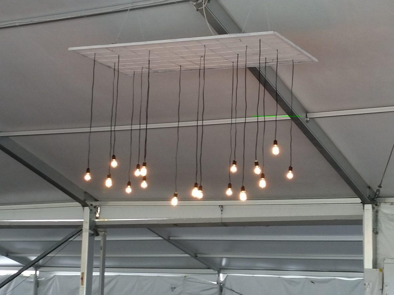 Bare bulb chandelier rain or shine tent company bare bulb chandelier arubaitofo Image collections