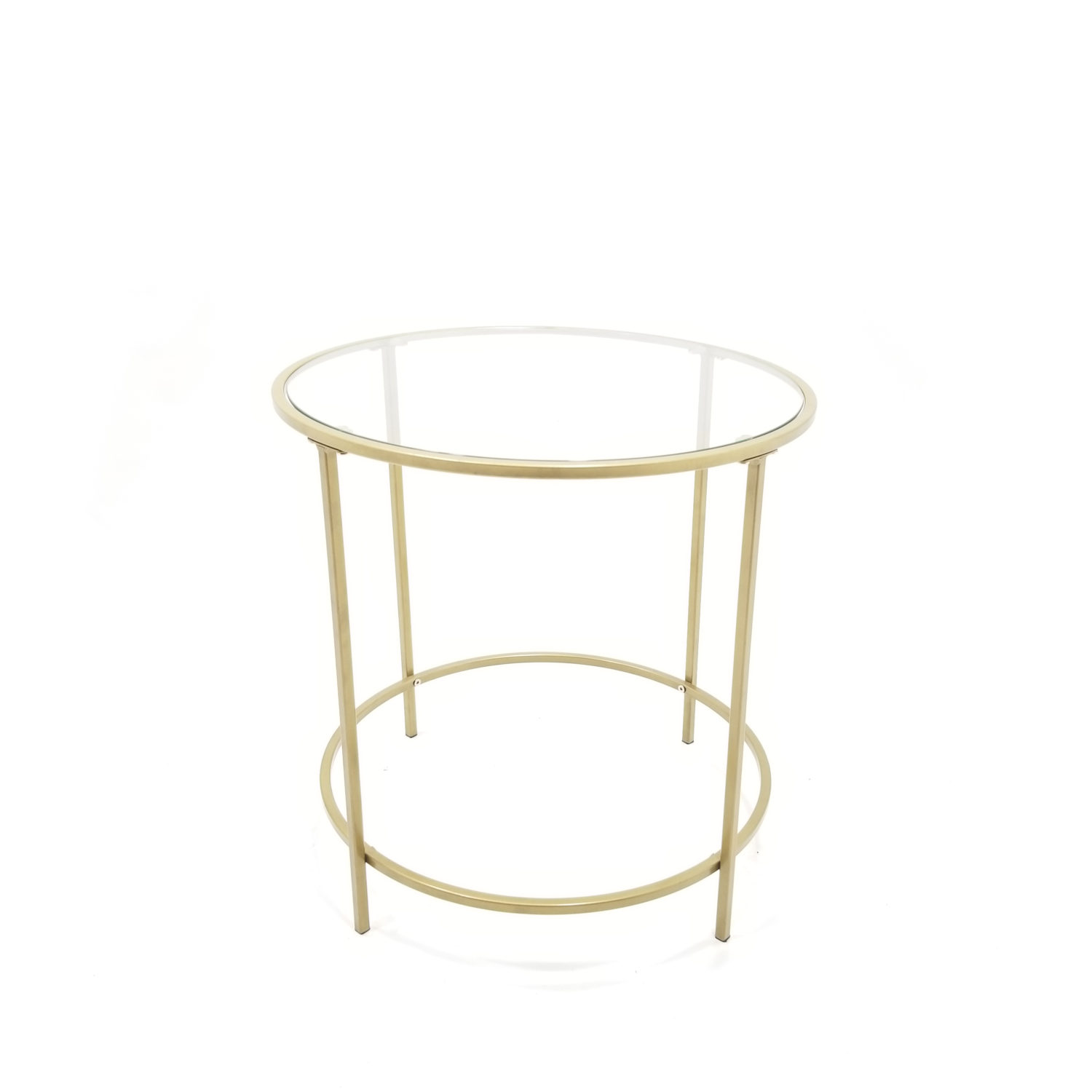 Gold U0026 Glass Side Table